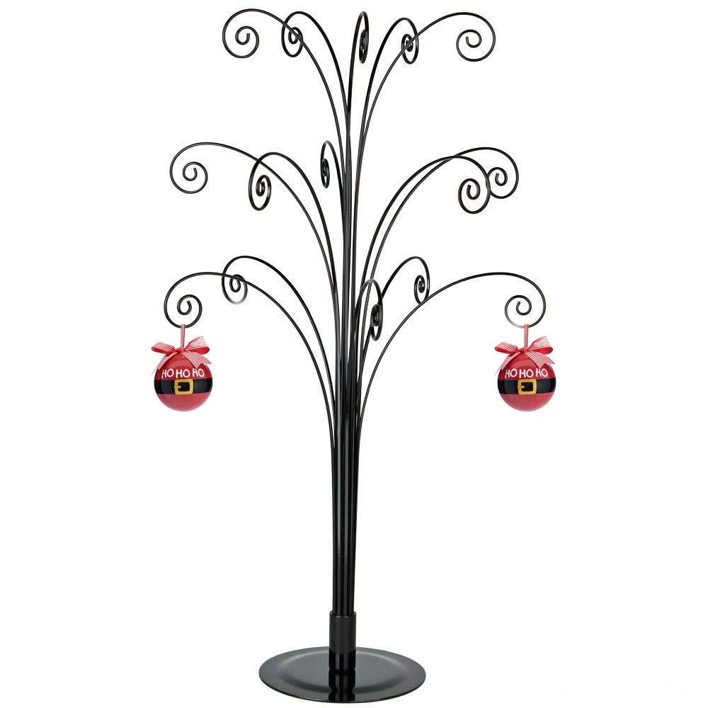 HOHIYA Ornament Display Stand Tree Metal Christmas Halloween Dog Cat Bauble Wire Hanger 20inch Black