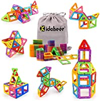 KIDCHEER Magnet Building Tiles, Magnetic 3D Building Blocks Set for Kids, Magnetic Educational Stacking Blocks Boys Girls...