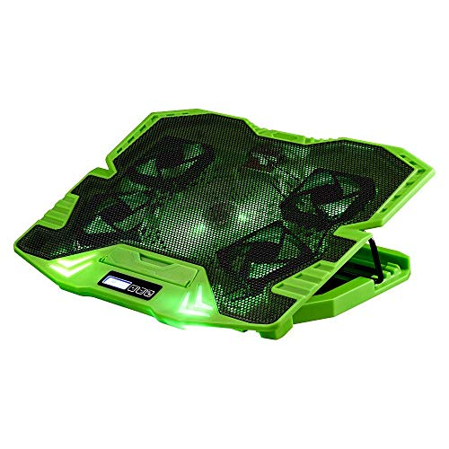 Master Cooler Gamer Verde Com Led Warrior, Suporte de Notebook - AC292, 30 x 37 cm