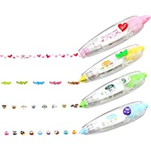 DIY Decorative Correction Tape for Scrapbooking Greeting Card Letter Diary Stationery School Supplies (Set of 4)