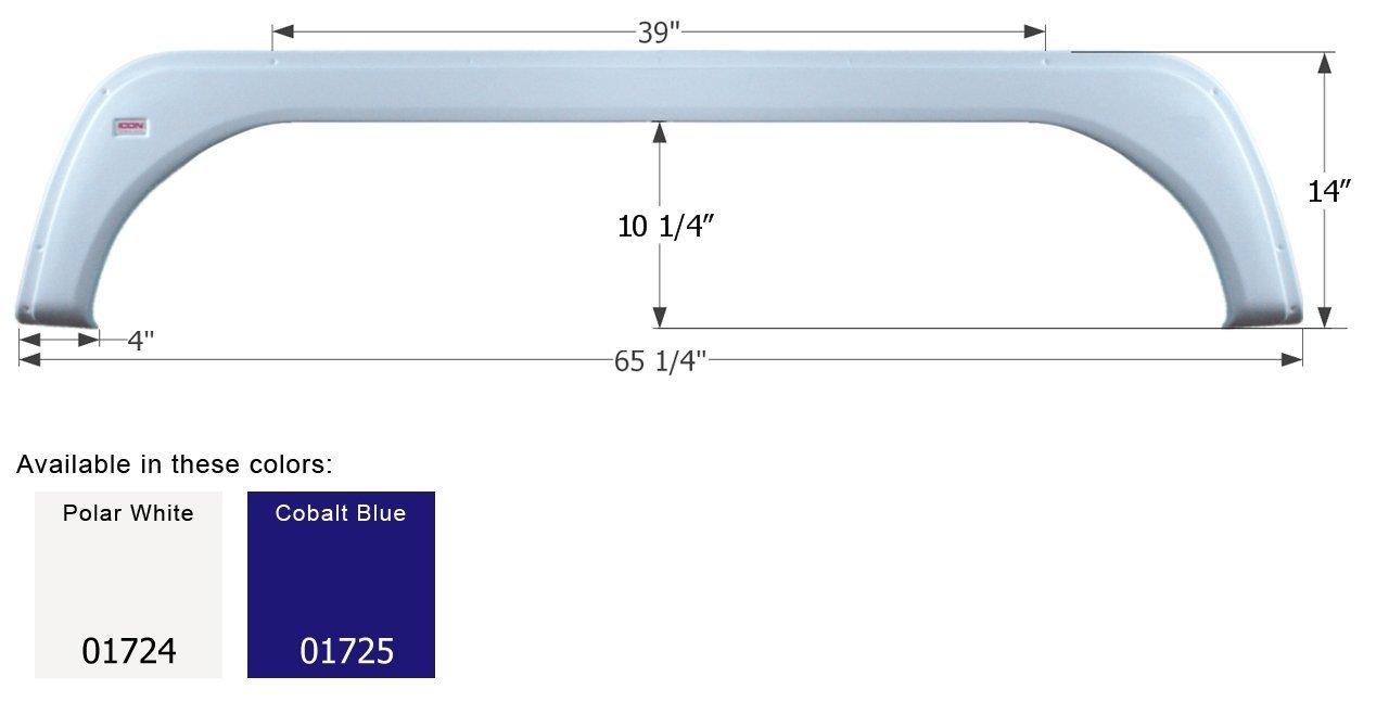 ICON KZ Tandem Fender Skirt FS1724, Cobalt Blue
