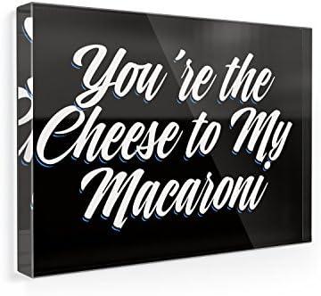 Imán para nevera diseño clásico eres el queso a mi macarrones ...