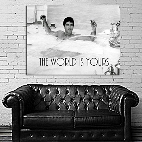 Scarface Framed Poster (Poster Mural Movie Scarface Mob Gangster 40x54 inch (100x135 cm) on Adhesive Vinyl #19WIY)