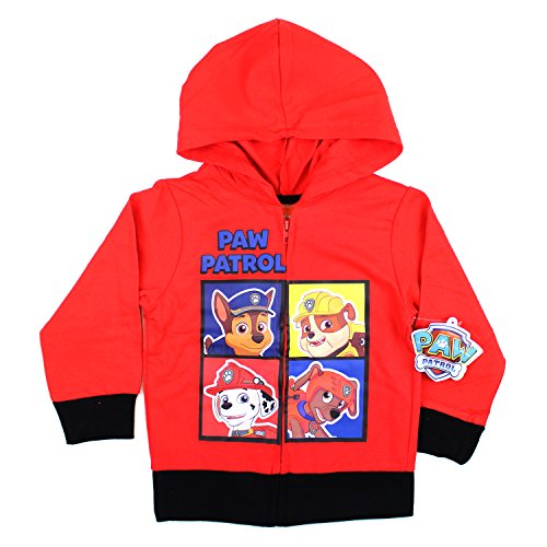 KIDS COMIC SUPERHERO ZIP-UP FLEECE HOODIE (2T, Paw Paw)