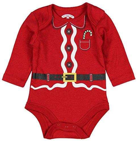 Assorted Santa, Reindeer Baby Boys & Girls Christmas Bodysuit Dress Up Outfit (3-6 Months, Santa Suit)