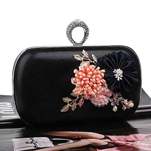 Flower Europe 3 Color Clutch Evening 3 Ladies Simple America Women's Bag And Handmade Bag QEQE qYTtRwq