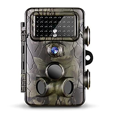 """Gosira Trail Camera 0.4S Trigger 1080P 2.4"""" LCD Viewer HD Night Vision Latest 940nm No Flash Infrared LED Hunting 12MP IP66 Waterproof Wildlife Animal Monitor Game Cam Outdoor Motion Activated"""