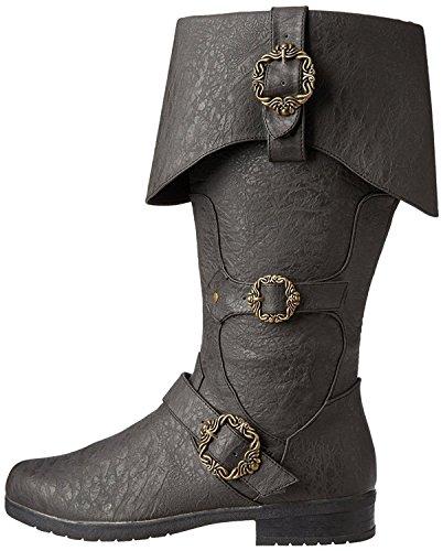 Caribbean Pirate Black Costume Boots (Medium 10-11) for $<!--$54.99-->