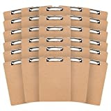 30 Hardboard Clipboards, Low Profile Clip, Designed for classroom and office use, 30 Clipboards