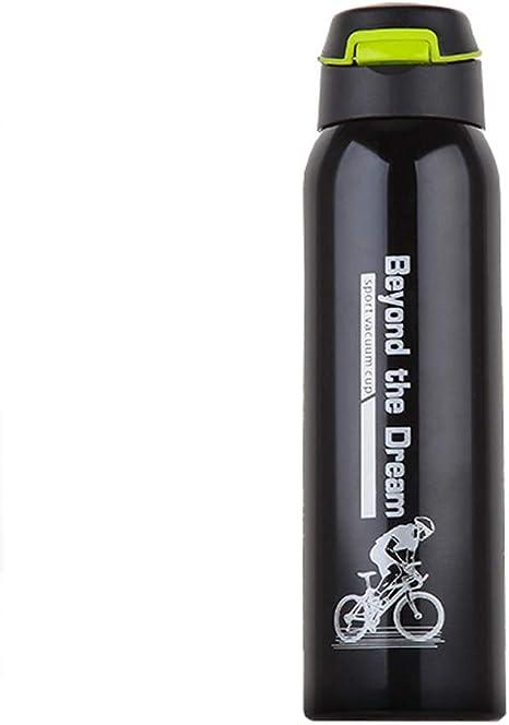 Acero Inoxidable Botella Agua Deportiva Bpa Negro Aislamiento ...