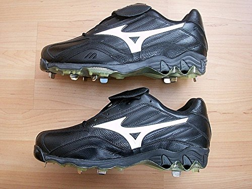 Mizuno Mens 9 Spike Classic Low G3 (Black/White) Baseball Cleats Size 9 by Mizuno