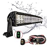 """MICTUNING 50-52"""" Curved 288W CREE LED Light Bar Combo 21000lm Off Road w/ laser green rocker Switch Wiring Harness"""