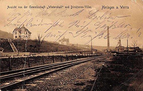 heringen-a-werra-germany-scenic-view-train-tracks-antique-postcard-j63335