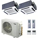 Blueridge 21 SEER Dual Zone 30,000 BTU Ductless Mini Split Heat Pump (2) 18k ceiling units