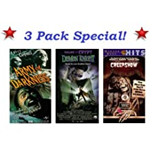 3 Pack Horror Special: Army of Darkness (Bruce Campbell), Tales From The Crypt Demon Knight & Creepshow