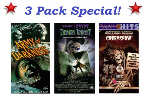3 Pack Horror Special: Army of Darkness (Bruce Campbell), Tales From The Crypt Demon Knight & Creepshow for $<!---->