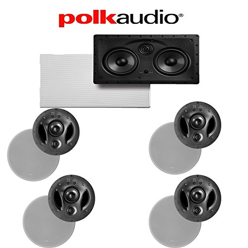 (Polk Audio 700-LS + Polk Audio 255C-LS 5.0 Vanishing Series In-Ceiling / In-Wall Home Theater Speaker Package)