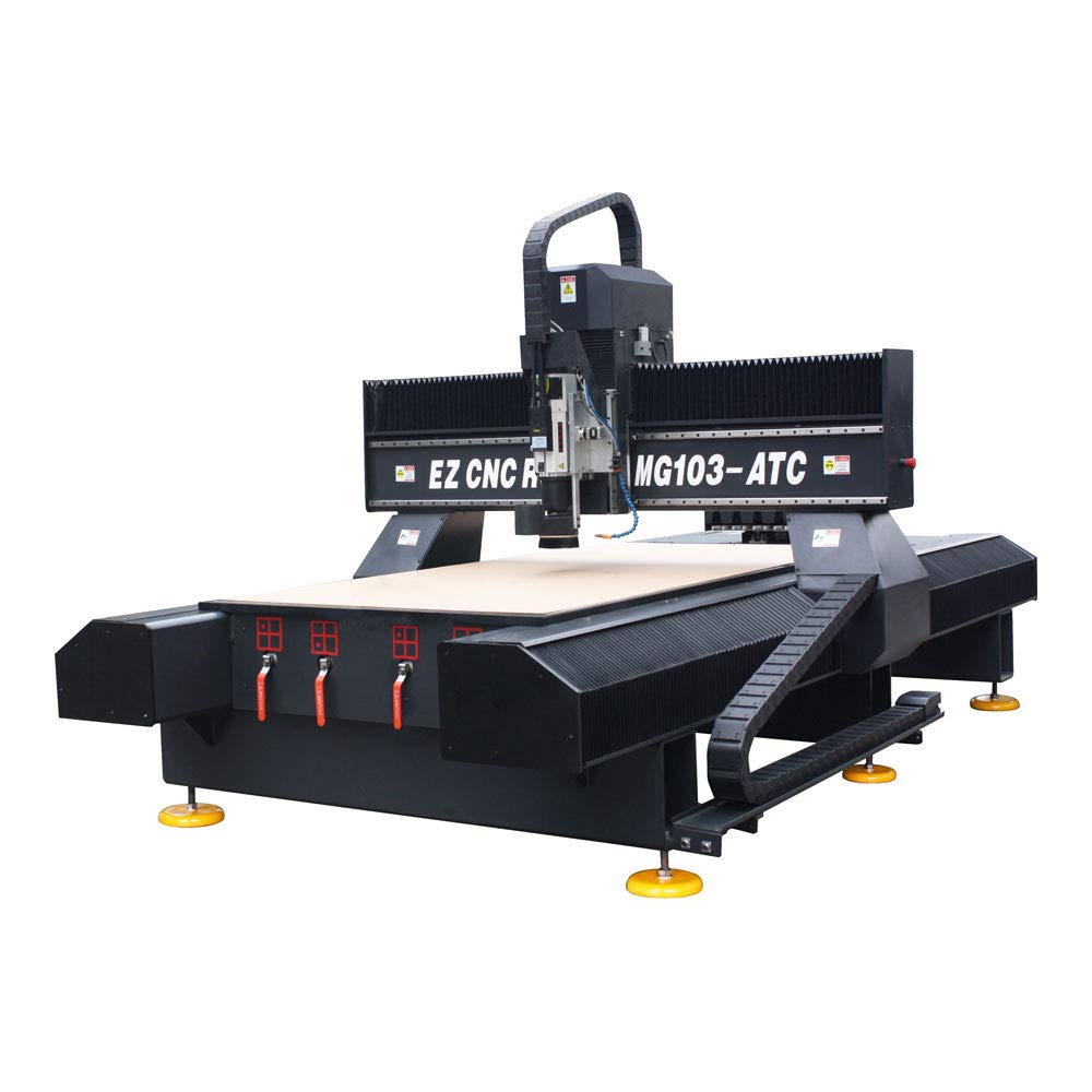 US Stock-POVOKICI 51in x 98in 1325 Dual Ball Screw CNC Router, with 9KW Spindle