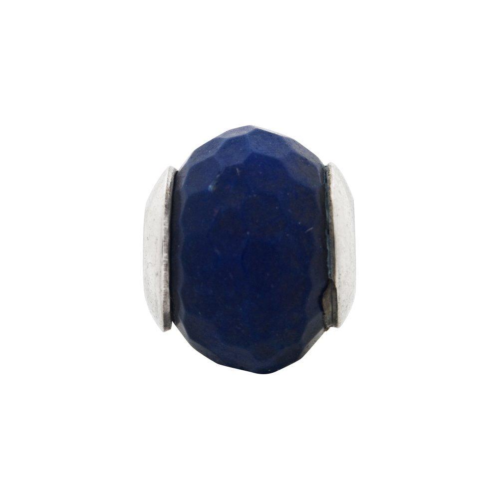 Sterling Silver Reflections Dark Blue Quartz Stone Bead