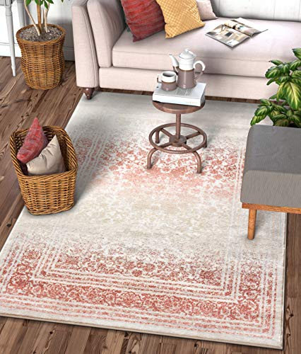 Copper Floral Rug - Well Woven Celine Copper Rust Persian Vintage Medallion Area Rug 5x7 (5'3