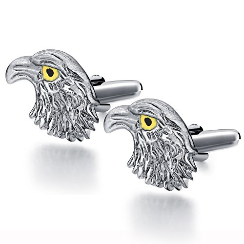 Honey Bear Cufflinks For Men - Stainless Steel,Silver for sale  Delivered anywhere in USA