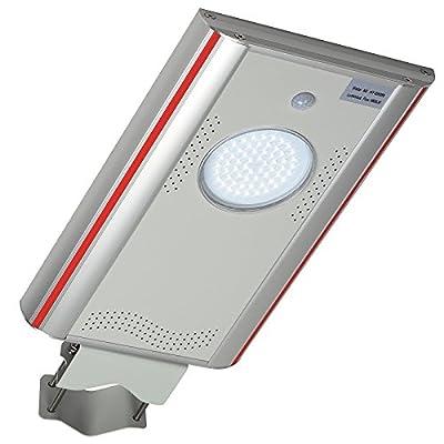 Commercial Outdoor LED Solar Street Light IP65 Waterproof Dusk to Dawn Motion Sensor Garage Courtyard Garden Night Security Lighting Pole/Wall Mount 1,800LM