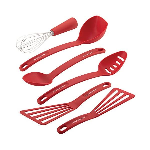 Rachael Ray Nylon Nonstick Set, Red, 6-Piece, Tools and Gadgets, One Size 1