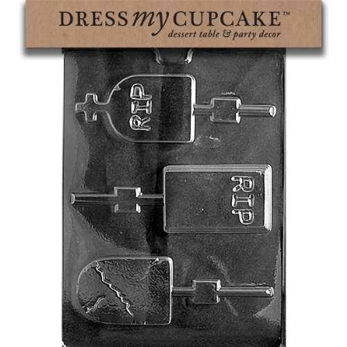 Dress My Cupcake DMCH119 Chocolate Candy Mold, Assorted Size Headstones, Halloween