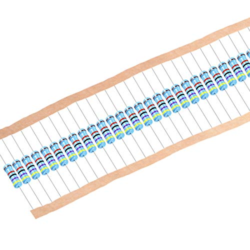 uxcell 100pcs Metal Film Resistors 47K Ohm 2W 1% Tolerances 5 Color Bands