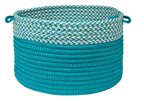Houndstooth Dipped Basket Colonial Mills, 24 by 14-Inch, Turquoise from Houndstooth Dipped Basket
