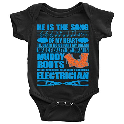 I Married an Electrician Baby Bodysuit, The Song of My Heart Baby Bodysuit (NB, Baby Bodysuit - -