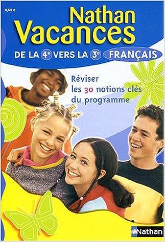 Ebook anglais télécharger Nathan vacances : Français, de la 4e vers la 3e in French PDF MOBI