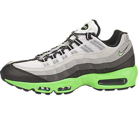 new arrival 07bc6 ed7c4 Nike Air Max 95 Mens Running Shoes 609048-053 Black Poison Green Dark Grey  Silver 8.5 M US - Buy Online in Oman.   Sports Apparel Products in Oman -  See ...