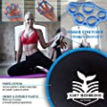 Knit Bonbons Outdoor Dual Sided Exercise Core Sliders Gliding Discs Set with 5 Resistance Loop Bands Bundle for Abs Workout Fitness Equipment for Home Carpet and Hard Floors
