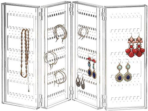 Earring Holder and Jewelry Organizer - Earring Organizer Holds up 140 Pairs of Earrings