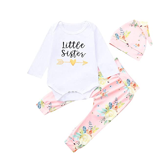 Conjuntos para Bebés Niñas Otoño Invierno 2018 Moda PAOLIAN Camisetas de Monos + Pantalones + Gorro