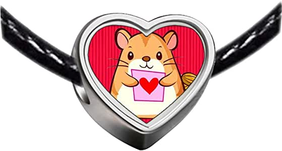 Chicforest Silver Plated Mouse Photo Heart Charm Beads Fits Pandora Bracelet
