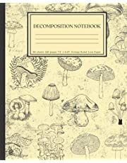 Decomposition Notebook: Cottagecore College Ruled Paper Notebook for Home School Supplies Students and Teachers
