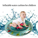Samoii Baby Toys Fun Water Play Mat - Encourage Tummy Time with 5 Fun Floating Sea Friends to Discover Development Toys