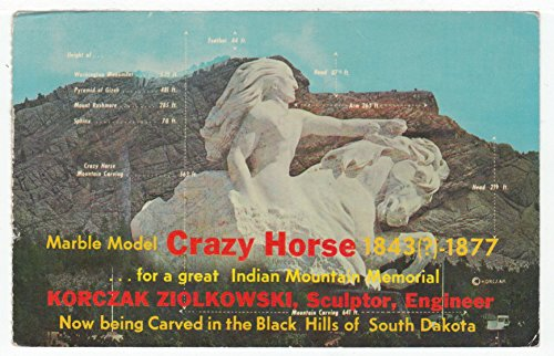 Crazy Horse, Black Hills, South Dakota Vintage Original Postcard #2709 - August 3, 1977 Crazy Horse Dakota