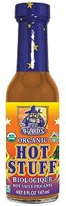The Wizard's Organic Sauce, Original Hot Stuff, Original, 5 Fl Oz (Pack of 12)