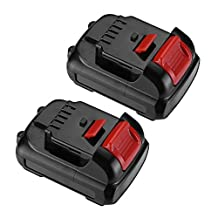 Biswaye 2 Pack 2.0Ah 12V Max Lithium-Ion Replacement Battery for Dewalt DCB120 DCB123 DCB127 High Capacity Cordless Power Tools