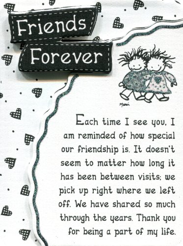 Miniature Easel Print with Magnet: Friends Forever, 3.6