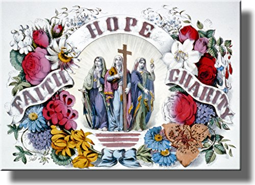 Hope, Faith, Charity Picture on Acrylic Wall Art Décor Framed Ready to Hang! by ArtWorks Decor