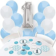 1st Birthday Boy - Fun to be One - Confetti and Balloon Birthday Party Decorations - Combo Kit