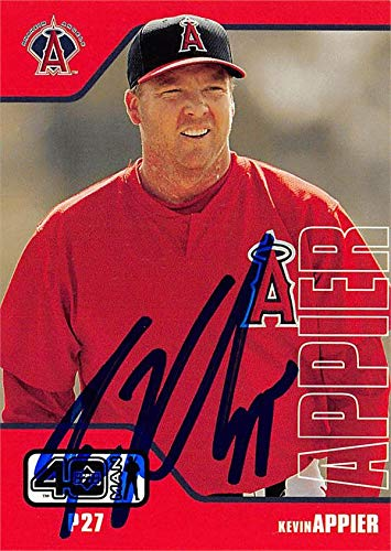 Kevin Appier autographed baseball card (Anaheim Angels, SC) 2002 Upper Deck Forty Man #2