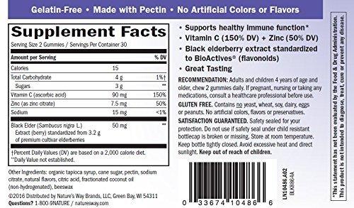 Sambucus Elderberry Gummies Herbal Supplements, 60 Count - Pack of 6