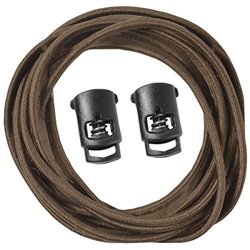 "Speedlaces iBungee Stretch Laces with Race Locks - 42"" - Brown"