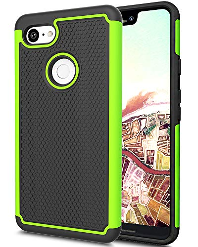 Google Pixel 3 XL Case, Google Pixel XL 3 Case, Asmart Drop Protection Case Google Pixel 3 XL Armor Defender Cover Dual Layer Protective Phone Case for Google Pixel 3 XL (2018) (Green)