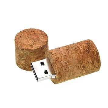Memoria USB 8GB Madera Pendrive Corcho de Vino USB 2.0 Pen Drive Kepmem Novedad Flash Drives Guay Llavero Memorias Externo Stick para Almacenamiento ...